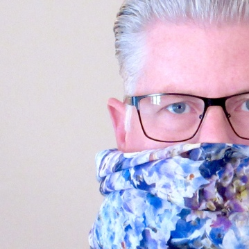 Morton Design House Blue Hydrangeas Scarf
