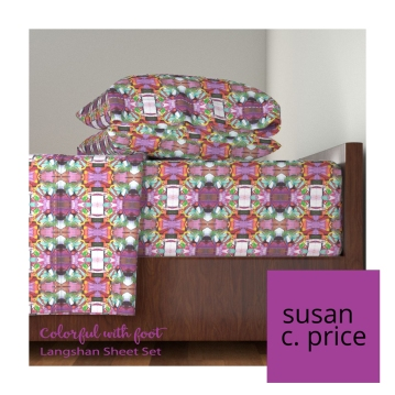 colorful-w-foot-sheet-set-roostery-susan-c-price-insta