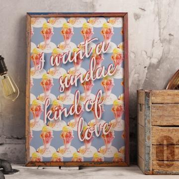 Unkie Monkie Studios Sundae Love Poster