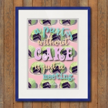 Unkie Monkie Studios Without Cake Poster